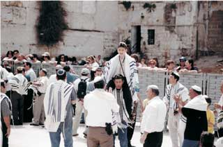 Bar mitzvah at the Western Wall.